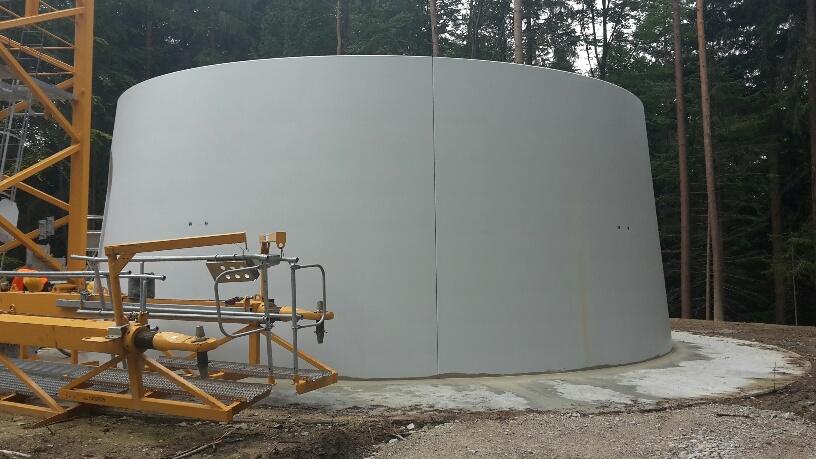 Bau Windpark Gerolsbach