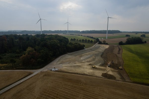 Bau Der Windparkinfrastruktur